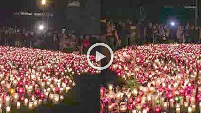 Poland lights a giant heart in tribute to slain mayor
