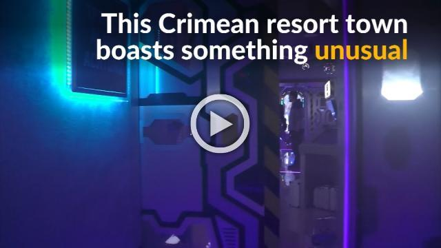 Futuristic spaceship theme park a great leap for Crimea
