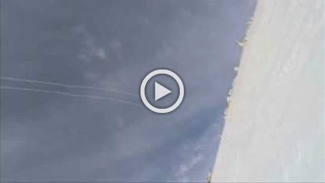 Missile interception caught on skier's camera.