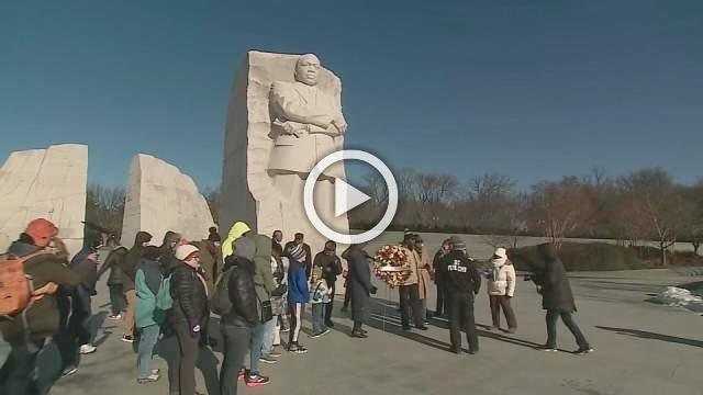 Wreath laying ceremony held at MLK Memorial
