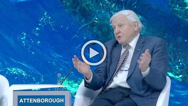 Prince William interviews naturalist David Attenborough on climate change at Davos