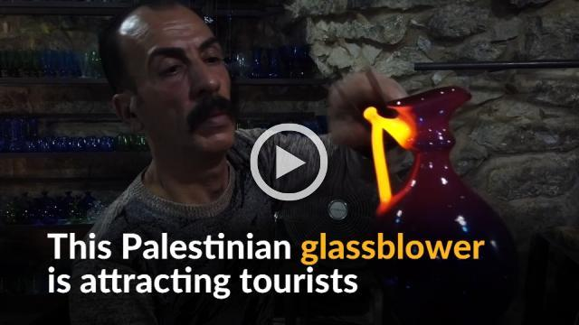 Hebron old city's remaining glassblower draws visitors