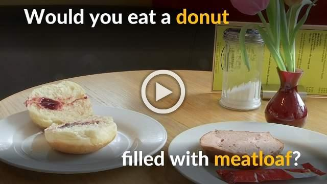 German baker spices up sweet donut with meatloaf