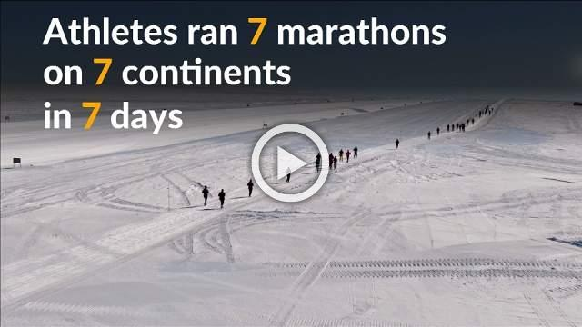 Runners brave ice and snow in world marathon
