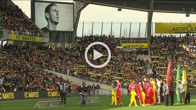 Nantes hold emotional tribute to Emiliano Sala before match