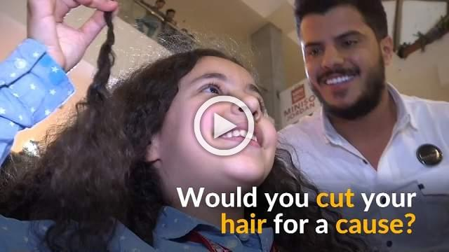 Jordanians cut their hair for a cause