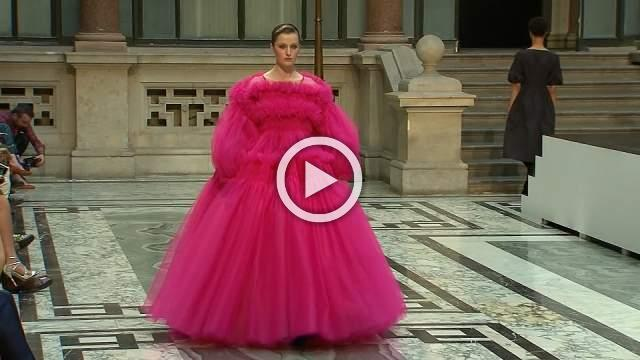 Molly Goddard brings tulle and shocking pink to London Fashion Week