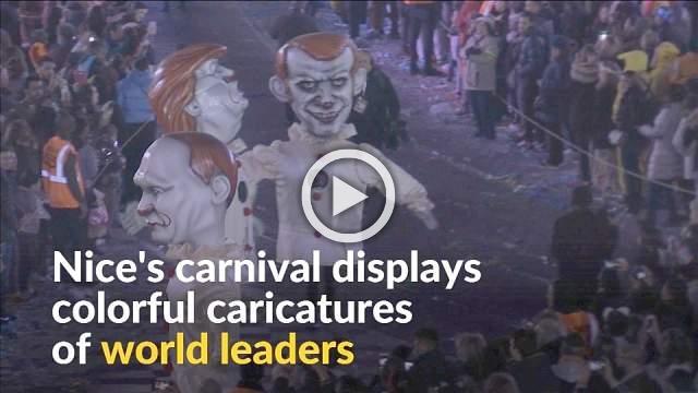 Nice's 135th carnival parade pokes fun at world leaders