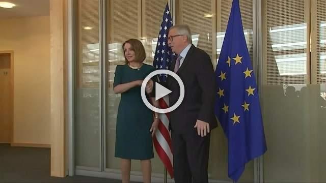 U.S. House Speaker Pelosi meets EU's Juncker