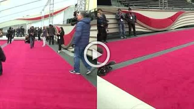 Red carpet rolled out ahead of the Oscars
