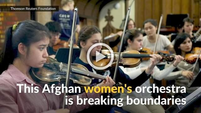 Afghan women's orchestra braves to play
