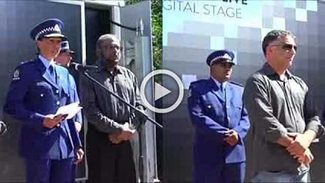 Muslim policewoman gives emotional speech during shooting vigil