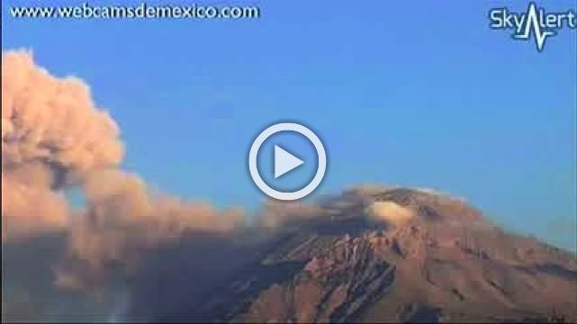 Mexico's spectacular Popocatepetl volcano spews ash into sky