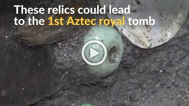 Aztec relics found in Mexico may lead to elusive royal tomb