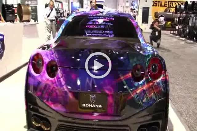 2017 Nissan GTR with Custom Wrap and Rohana Wheels Exterior Walkaround Part I