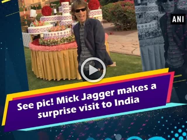 See pic! Mick Jagger makes a surprise visit to India