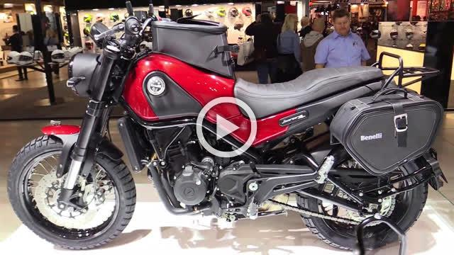 Benelli Leoncino 500 Walkaround Motorcycle Exhibition