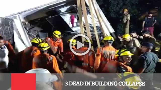 3 Dead In Building Collapse
