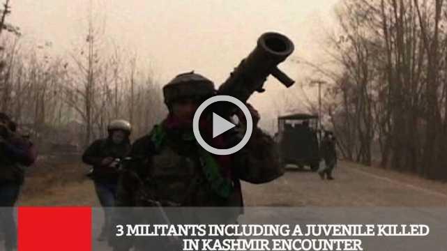 3 Militants Including A Juvenile Killed In Kashmir Encounter