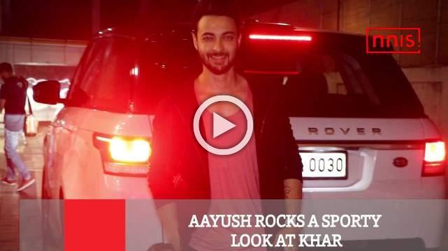 Aayush Rocks A Sporty Look At Khar
