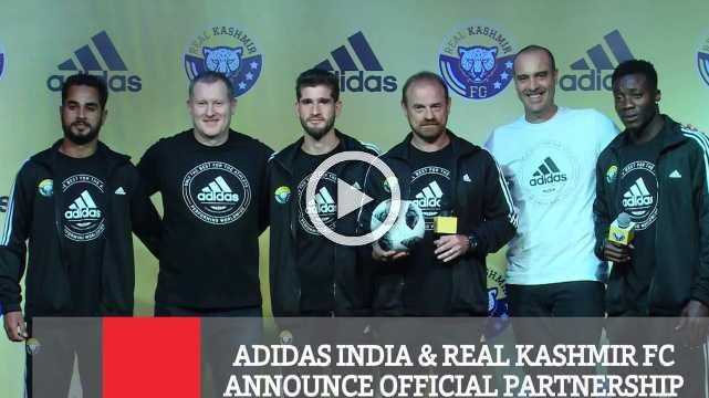 Adidas India & Real Kashmir Fc  Announce Official Partnership