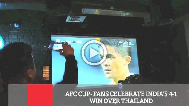 AFC Cup- Fans Celebrate India's 4-1 Win Over Thailand