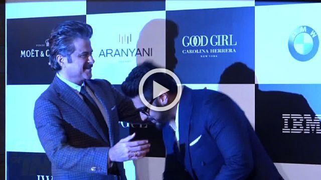 Arjun Kapoor Laughs Giggles With Uncle Anil Kapoor At Vouge Awards