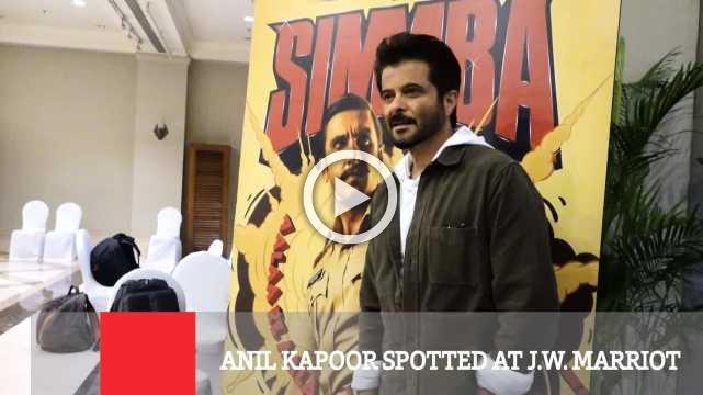 Anil Kapoor Spotted At J.W. Marriot