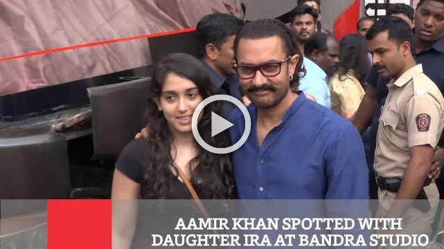 Aamir Khan Spotted With Daughter Ira At Bandra Studio