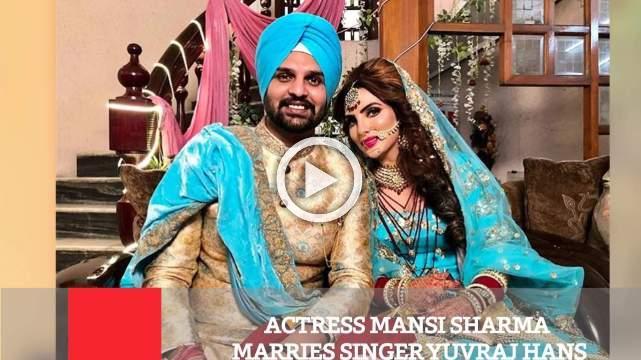 Actress Mansi Sharma Marries Singer Yuvraj Hans