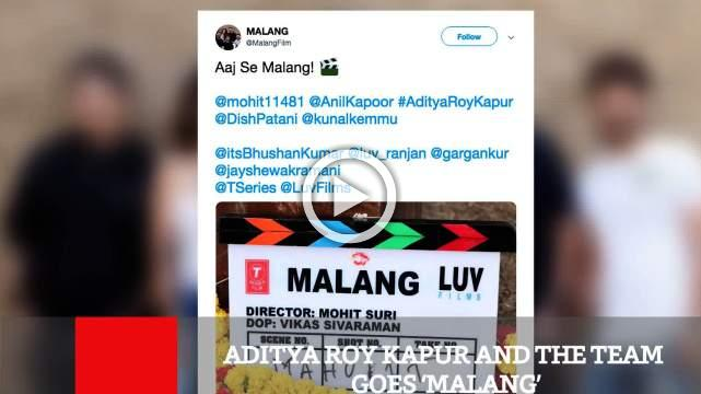 Aditya Roy Kapur And The Team  Goes 'Malang'