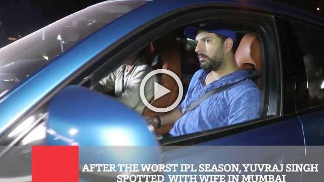 After The Worst IPL Season, Yuvraj Singh Spotted  With Wife In Mumbai