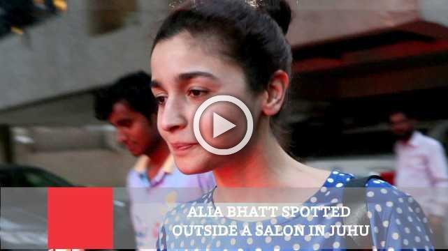 Alia Bhatt Spotted Outside A Salon In Juhu