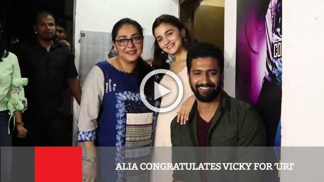 Alia Congratulates Vicky For 'Uri'