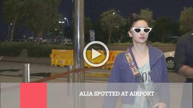 Alia Spotted At Airport