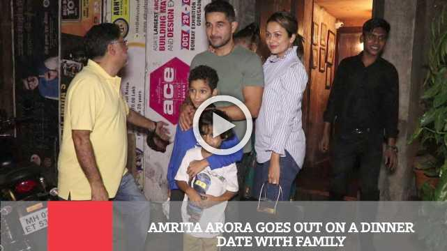 Amrita Arora Goes Out On A Dinner Date With Family