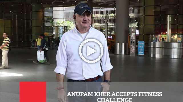 Anupam Kher Accepts Fitness Challenge