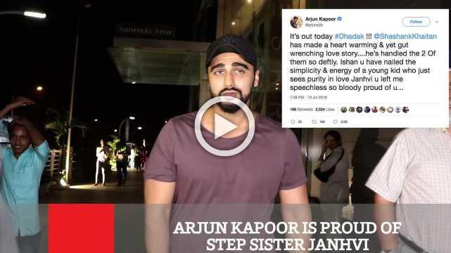 Arjun Kapoor Is Proud Of Step Sister Janhvi
