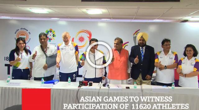 Asian Games To Witness Participation Of  11620 Athletes