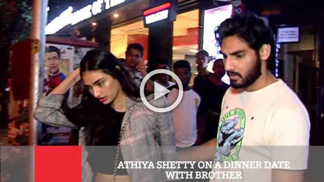 Athiya Shetty On A Dinner Date With Brother