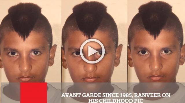 Avant Garde Since 1985, Ranveer On His Childhood Pic