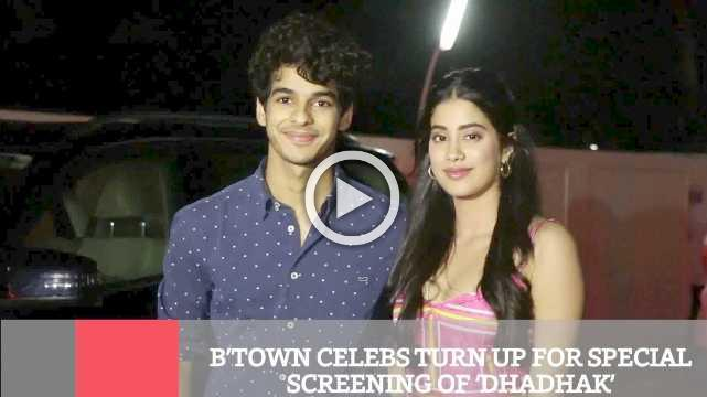 B'town Celebs Turn Up For Special Screening Of 'Dhadhak'