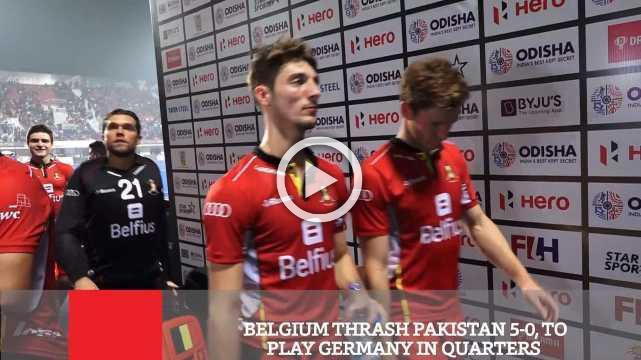 Belgium Thrash Pakistan 5-0, To Play Germany In Quarters