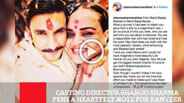Casting Director Shanoo Sharma Pens A Heartfelt Note For Ranveer