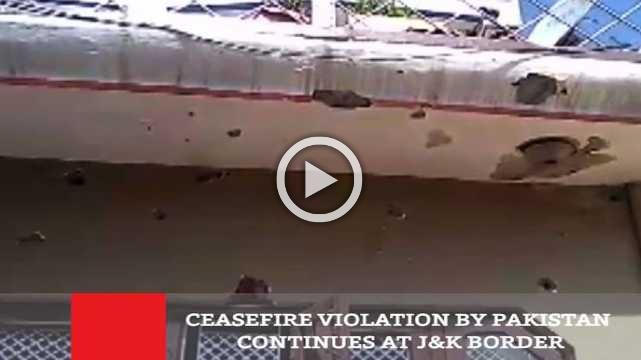 Ceasefire Violation By Pakistan Continues At J&K Border