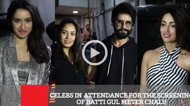 Celebs In Attendance For The Screening Of Batti Gul Meter Chalu