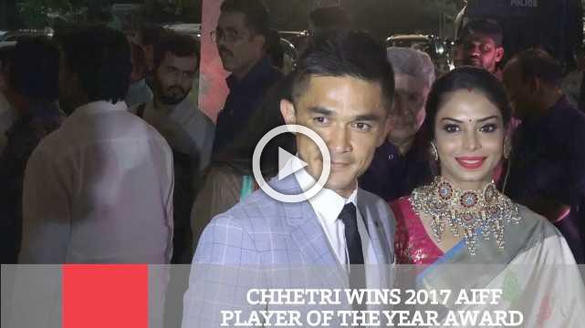 Chhetri Wins 2017 AIFF Player Of The Year Award