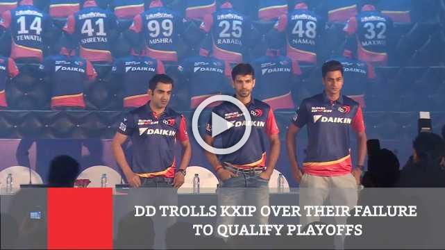 DD Trolls KXIP Over Their Failure To Qualify Playoffs