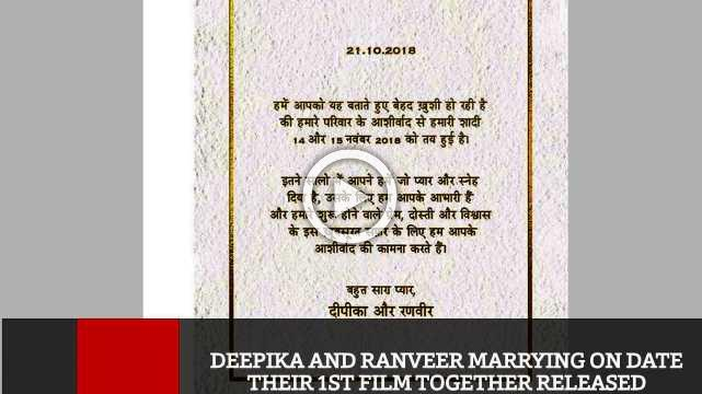 Deepika And Ranveer Marrying On Date Their 1st Film Together Released