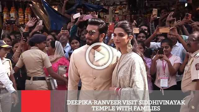 Deepika-Ranveer Visit Siddhivinayak Temple With Families